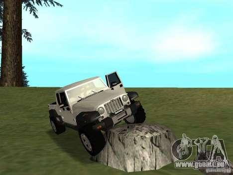 Jeep Gladiator pour GTA San Andreas vue arrière