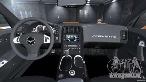Chevrolet Corvette ZR1 pour GTA 4 vue de dessus
