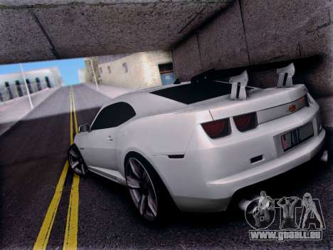 Chevrolet Camaro ZL1 SSX für GTA San Andreas zurück linke Ansicht