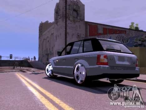 Range Rover DUB 2.0 pour GTA 4 Vue arrière de la gauche