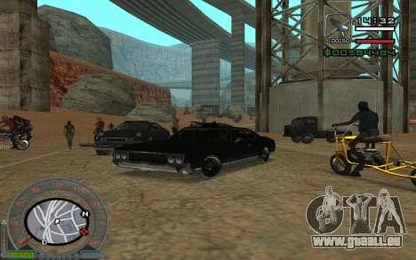 New Sabre pour GTA San Andreas vue arrière