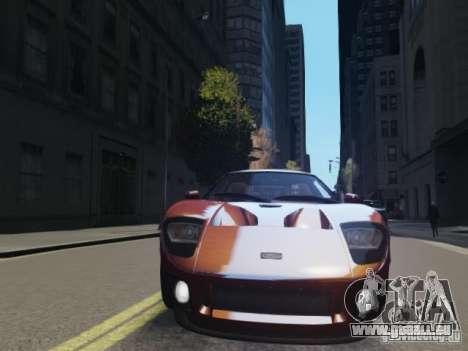 Ford GT pour GTA 4 Vue arrière