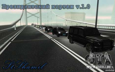 Le cortège présidentiel v. 1.2 pour GTA San Andreas