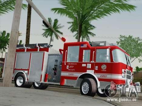 Pierce Saber LAFD Engine 10 pour GTA San Andreas vue de côté