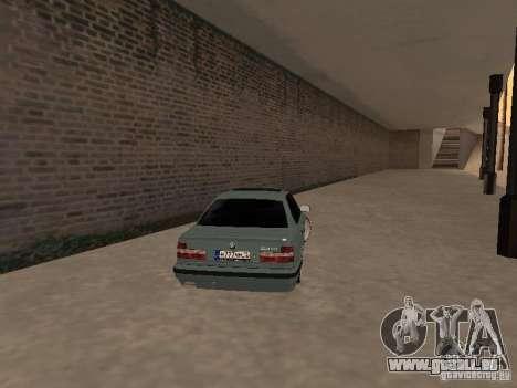 BMW E34 540i V8 pour GTA San Andreas sur la vue arrière gauche