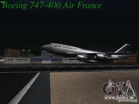 Boeing 747-400 Air France für GTA San Andreas Seitenansicht