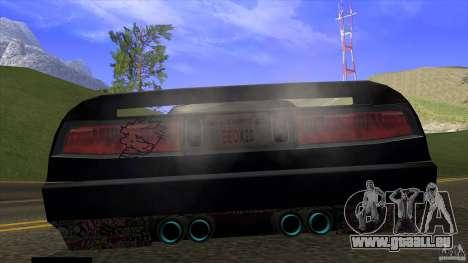 Infernus v3 by ZveR pour GTA San Andreas sur la vue arrière gauche