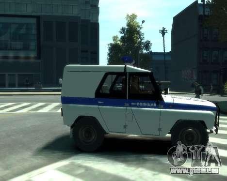 UAZ 31512 Polizei für GTA 4 rechte Ansicht
