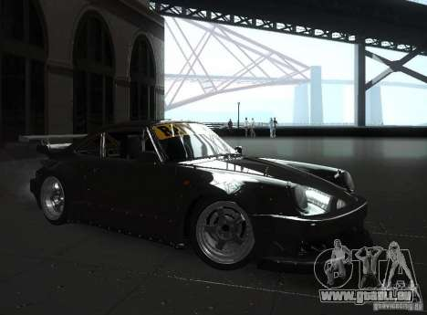 Porsche 911 Turbo RWB pour GTA San Andreas sur la vue arrière gauche