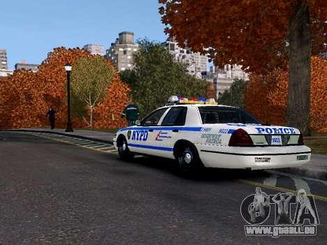 Ford Crown Victoria NYPD für GTA 4 hinten links Ansicht