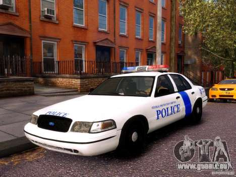 Ford Crown Victoria Homeland Security für GTA 4 Rückansicht