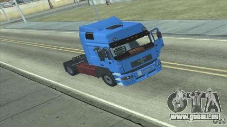 Man F2000 pour GTA San Andreas laissé vue