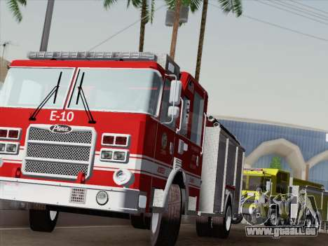 Pierce Saber LAFD Engine 10 für GTA San Andreas Innen