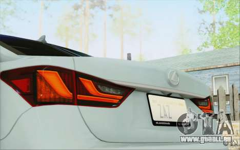 Lexus GS 350 F Sport Series IV pour GTA San Andreas vue de dessus