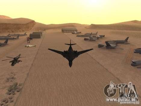 Tu 160 Black Jack pour GTA San Andreas sur la vue arrière gauche