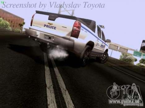 Chevrolet Avalanche 2007 pour GTA San Andreas sur la vue arrière gauche