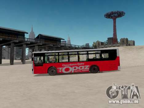 Daewoo BC211MA Baku pour GTA 4 est une vue de l'intérieur