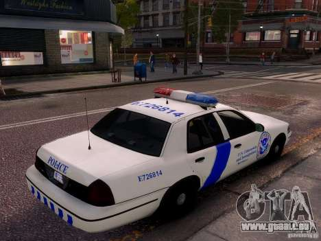 Ford Crown Victoria Homeland Security für GTA 4 Seitenansicht