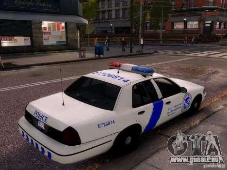 Ford Crown Victoria Homeland Security für GTA 4 Seitenansicht