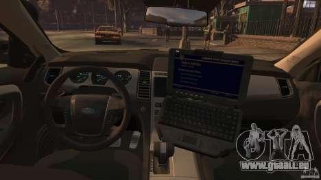 Ford Taurus Police Interceptor 2010 ELS pour GTA 4 est une gauche