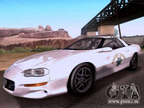 Chevrolet Camaro 2002 California Highway Patrol für GTA San Andreas