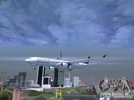 Airbus A330-300 Air Canada pour GTA San Andreas vue de dessous