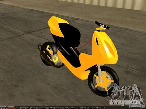 Yamaha Aerox pour GTA San Andreas vue de droite