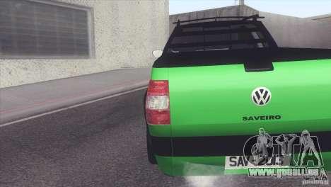 Volkswagen Saveiro 2013 pour GTA San Andreas laissé vue