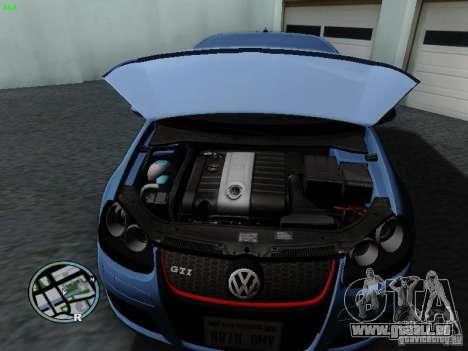 Volkswagen Golf V R32 Black edition für GTA San Andreas Rückansicht