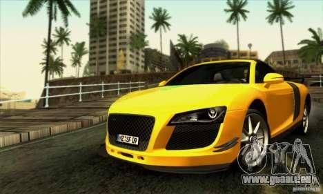 Audi R8 Spyder Tunable für GTA San Andreas Innen