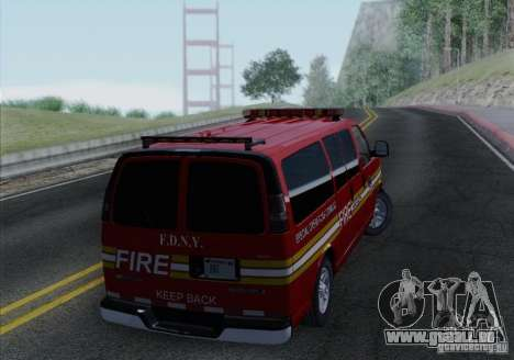 Chevrolet Express Special Operations Command für GTA San Andreas rechten Ansicht