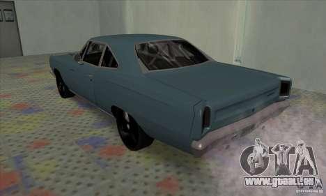 Plymouth Roadrunner pour GTA San Andreas vue de droite