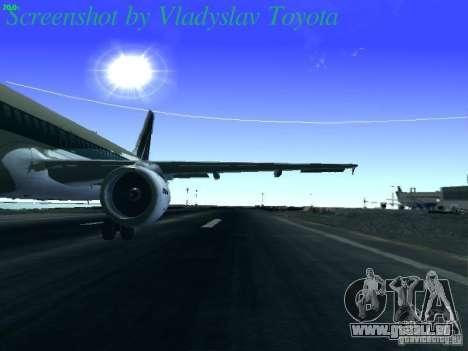Airbus A320-214 Alitalia v.1.0 pour GTA San Andreas vue intérieure