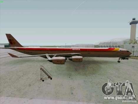 Airbus A-340-600 Iberia pour GTA San Andreas laissé vue