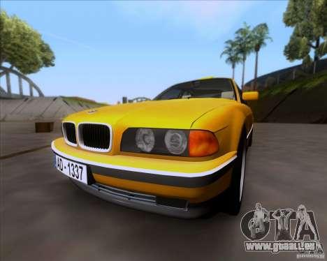 BMW 730i E38 1996 Taxi pour GTA San Andreas laissé vue