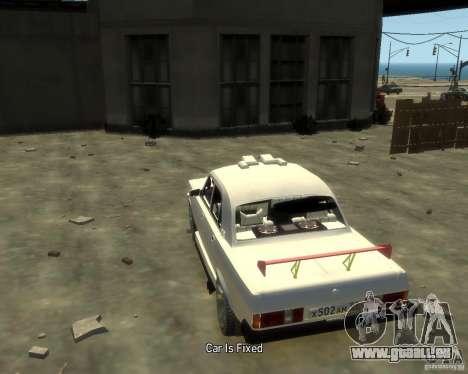 GAZ 3102 pour GTA 4 Vue arrière de la gauche