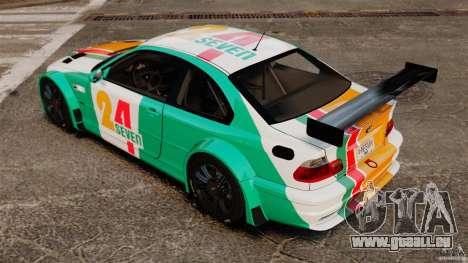 BMW M3 GTR MW 2012 pour GTA 4 Vue arrière de la gauche
