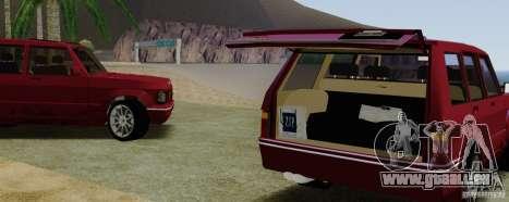 Huntley Freelander für GTA San Andreas Rückansicht