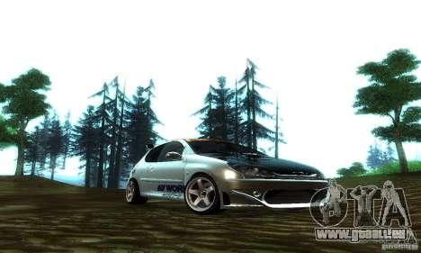 Peugeot 206 Tuning pour GTA San Andreas vue arrière