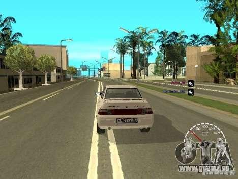 Compteur de vitesse Lada Priora pour GTA San Andreas troisième écran