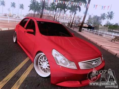 Infiniti G37 Sedan pour GTA San Andreas roue