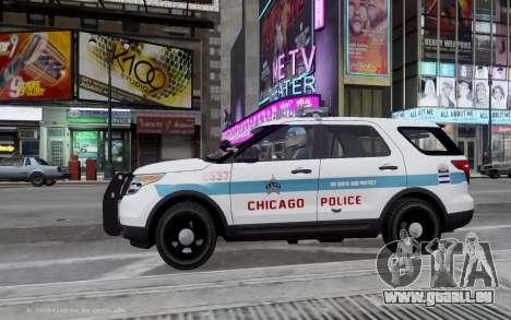 Ford Explorer Chicago Police 2013 für GTA 4 linke Ansicht