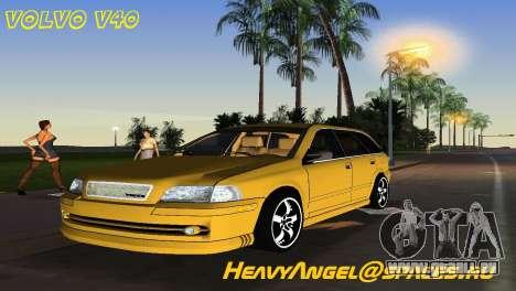 VOLVO V40 pour GTA Vice City