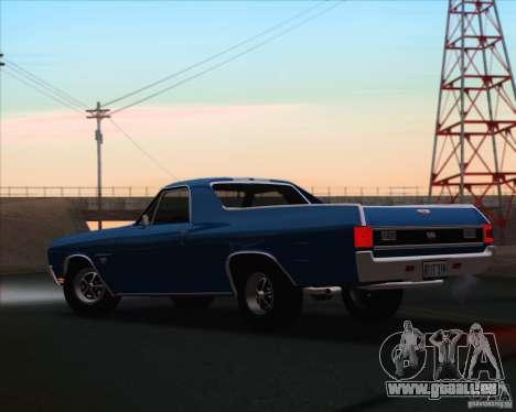 Chevrolet EL Camino SS 70 pour GTA San Andreas laissé vue