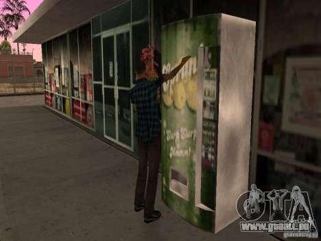 Station-service occupée à Los Santos pour GTA San Andreas sixième écran