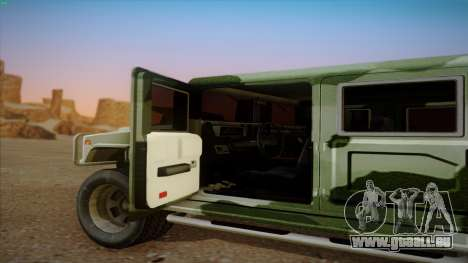 HD Patriot pour GTA San Andreas vue arrière