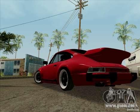 Porsche 911 Turbo für GTA San Andreas zurück linke Ansicht