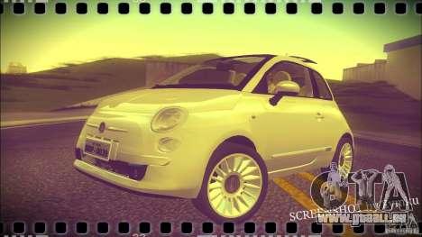 Fiat 500 Lounge 2010 pour GTA San Andreas