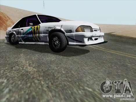 Ford Mustang Drift pour GTA San Andreas laissé vue