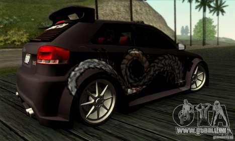 Audi A3 Tunable pour GTA San Andreas vue de dessus